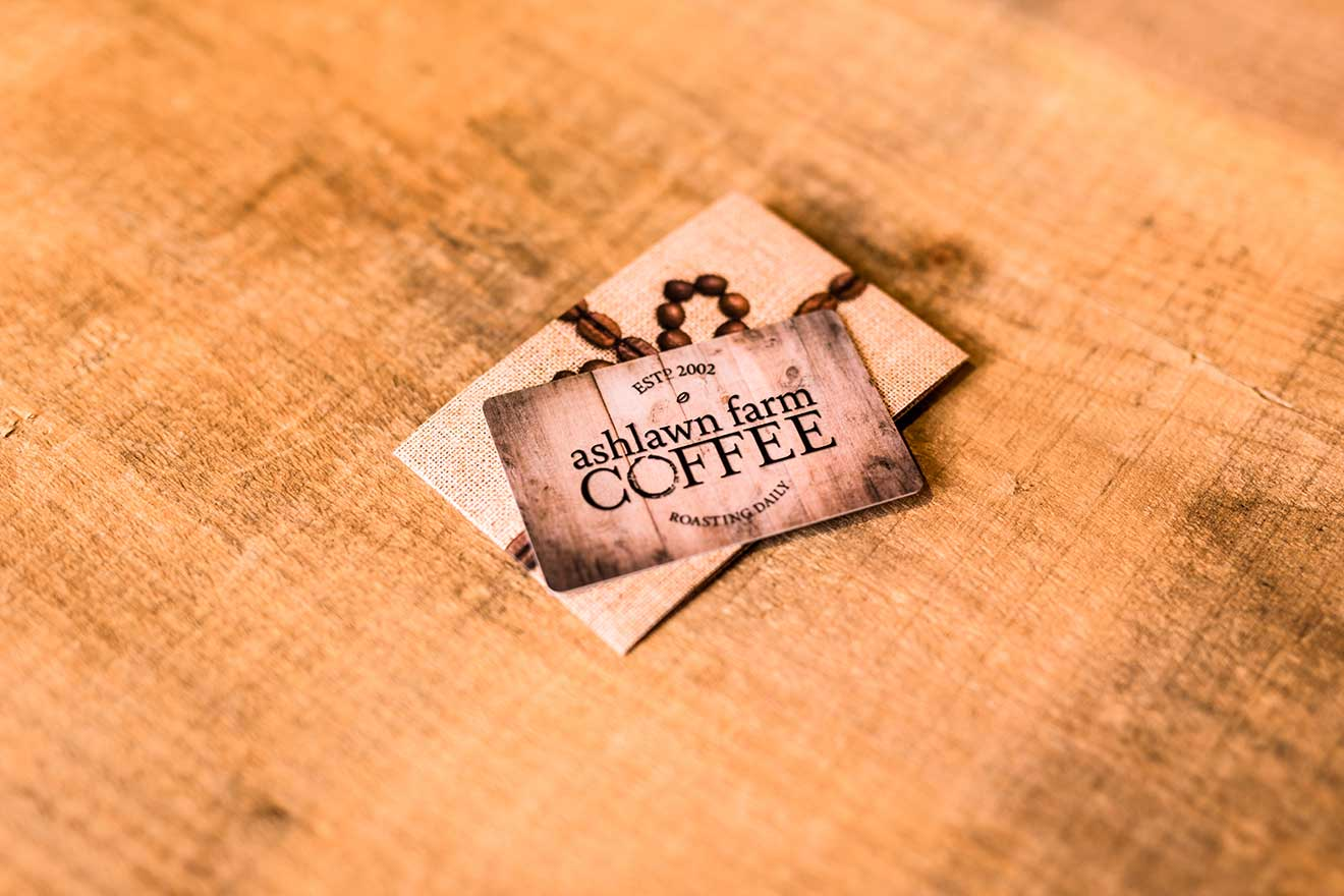 ashlawn farm coffee gift card
