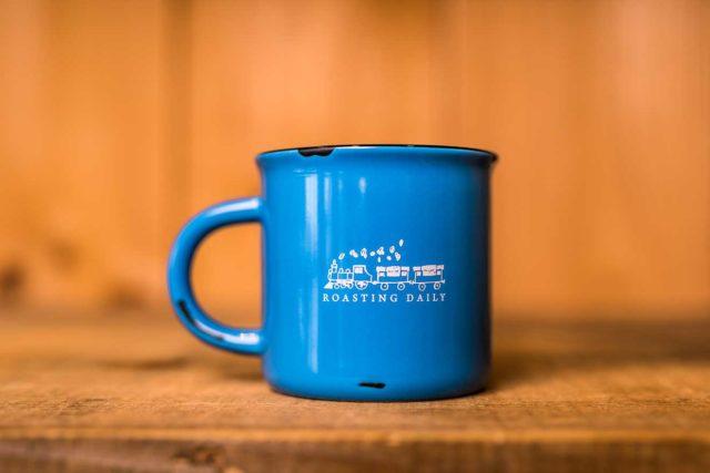 light blue mug
